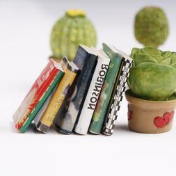 1:12 Puppenhaus Szenen Fine Books 6 Bücher Comic Bücher St