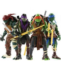 4 Teenage Mutant Ninja Turtles Movie Film Action Figuren Fig
