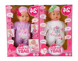 Bayer Design Funktionspuppe First Words Baby,weiss, Lila,  3