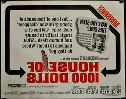 Haus Von 1000 Puppenhaus 1967 Original 22X28 Film Poster Vin