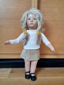 Käthe Kruse Puppe 70er, 38 cm, inkl. mehrere Kleider