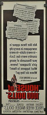 Haus Von 1000 Puppenhaus 1967 Original 14X36 Film Poster Vin