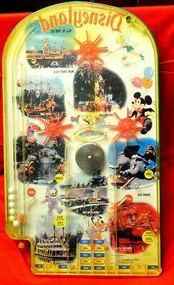 Original Walt Disney Disneyland Game,Pinball Game 1960'S Wol
