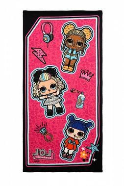 L.O.L Surprise Kinder Badetuch Strandtuch mit Puppenmotive,