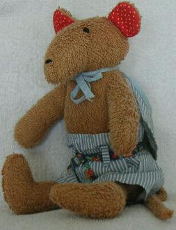 Sigikid Maus Puppe mit Kleidung + Mütze 35 cm Kuscheltier S