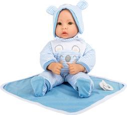 Puppe Lukas mit Zubehör, Babypuppe, Puppenmädchen, Puppenj