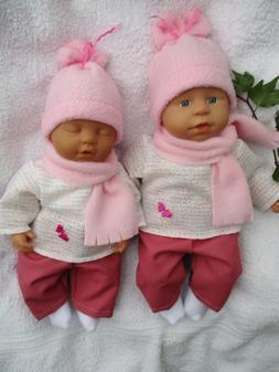 43 cm Baby Puppen Lama Alpaka Mütze Pulli Hose 4 teilige Puppenkleidung Gr