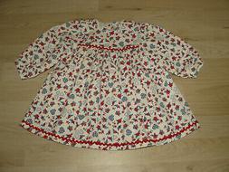 Schildkröt Puppen Kleid Leman weiß rot blau Künstlerpuppe